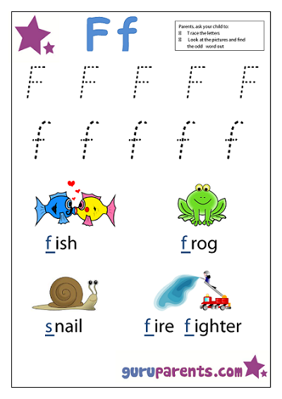 Preschool Letter Worksheet - Letter F