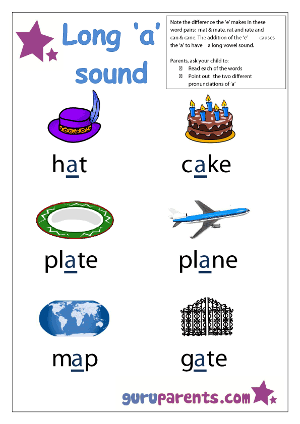 Letter A Worksheets – Long a Sound Worksheets
