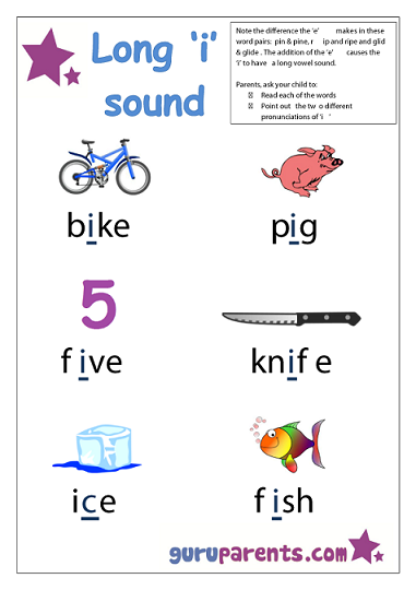 Preschool Letter Worksheet - Long I sound