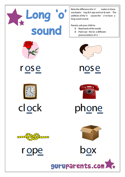 Preschool Letter Worksheet - long o