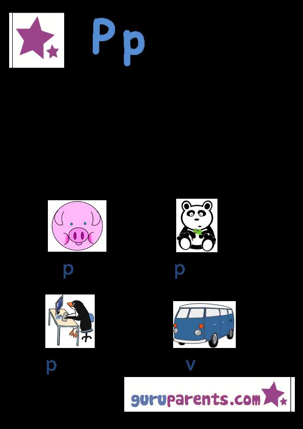 Printable Worksheets letter p worksheets for pre-k : Letter P Worksheets | guruparents