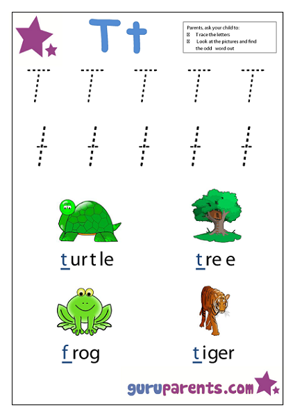 Preschool Letter Worksheet - Letter T