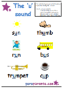 Letter U Worksheet - u sound