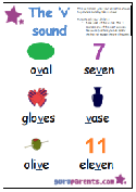 Preschool Letter Worksheet - v sound