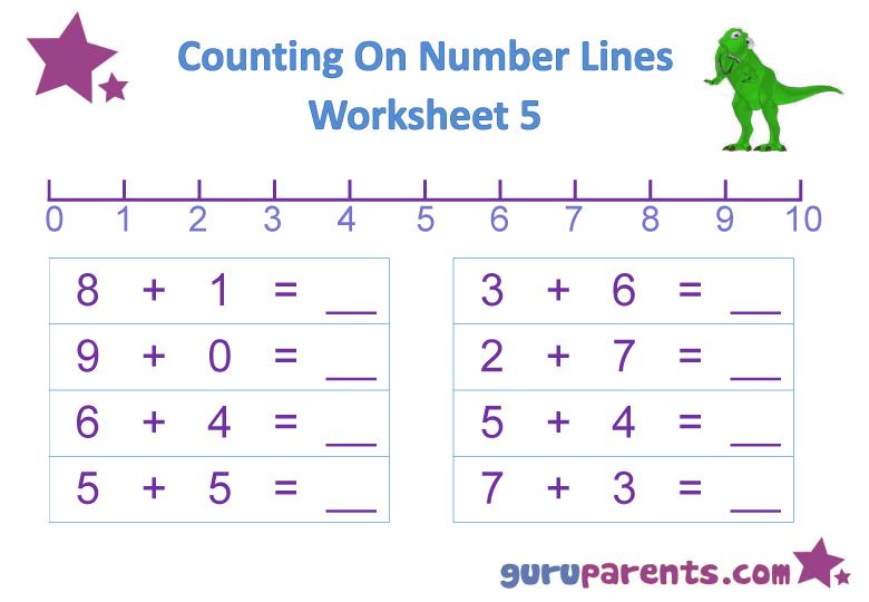 Number Line Worksheets | guruparents