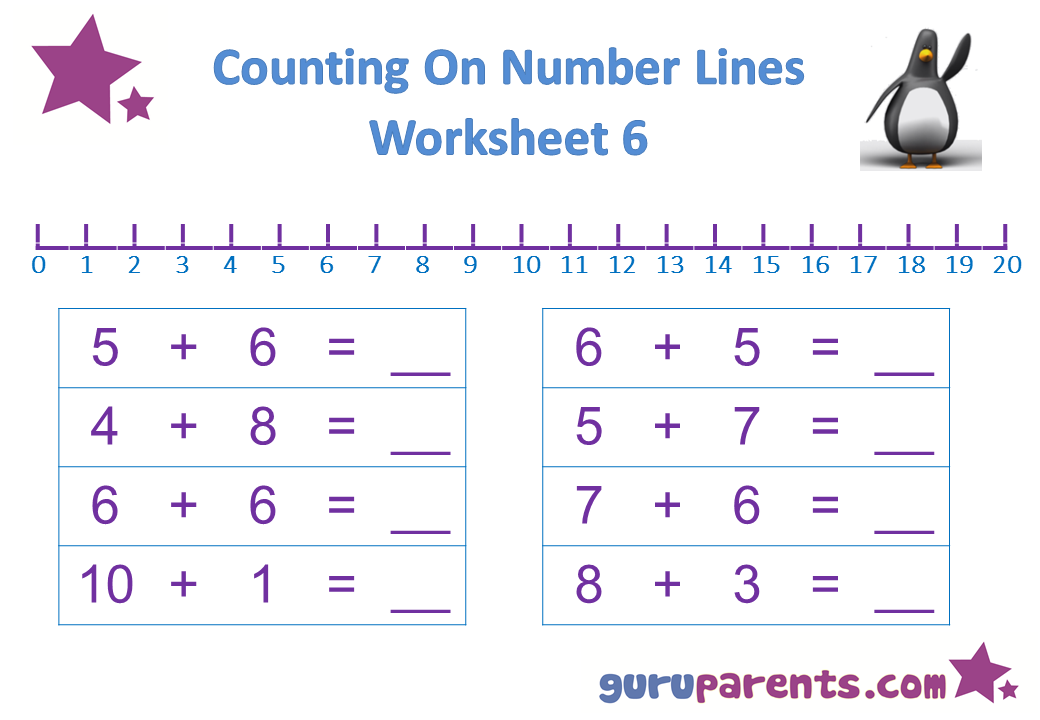 number line worksheets guruparents. Black Bedroom Furniture Sets. Home Design Ideas