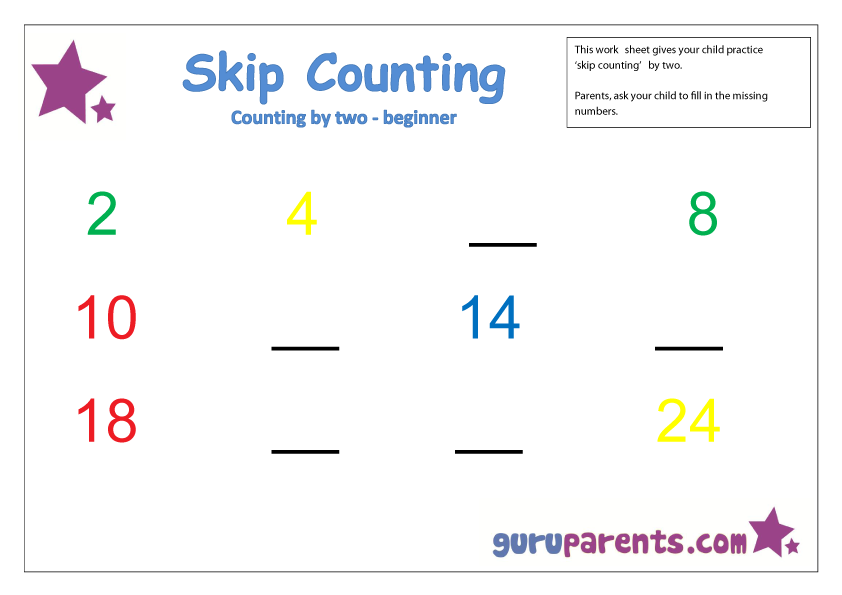 Skip Counting by two beginner