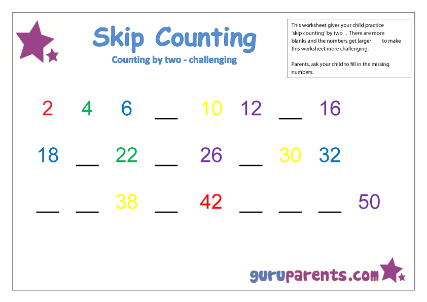 Skip Counting by two challenging
