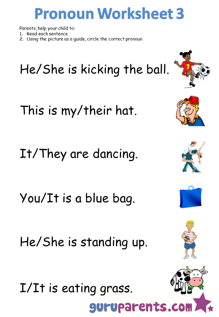 Click here to download all pronoun worksheets