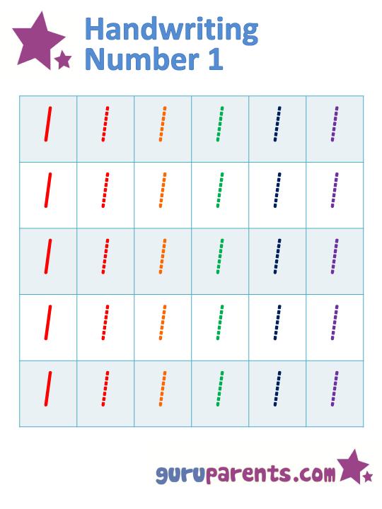 Number Names Worksheets tracing numbers for kids : Kindergarten Math Worksheets | guruparents
