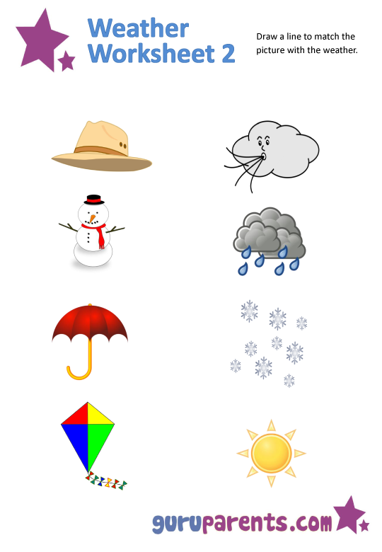 Free printable weather worksheets for preschoolers ...