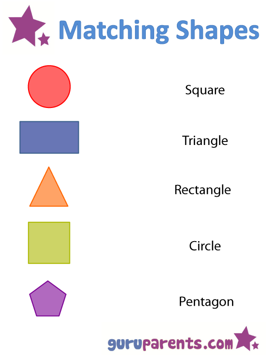 Shapes Worksheets and Flashcards – Worksheet on Shapes for Kindergarten