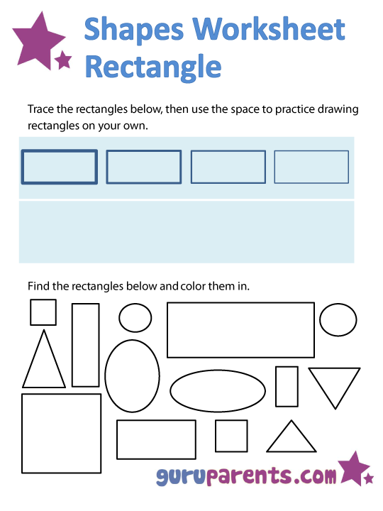 rectangle shapes worksheet