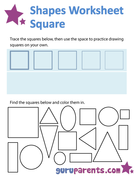square shapes worksheet