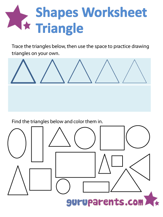 triangle shapes worksheet