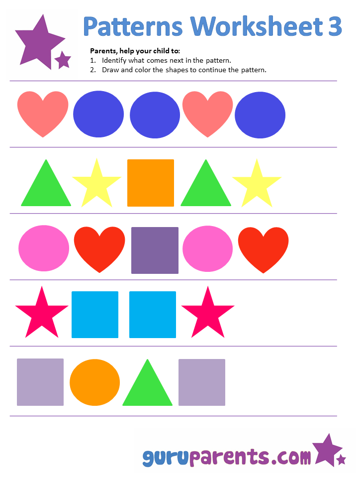Pattern Worksheets – Pattern Worksheet