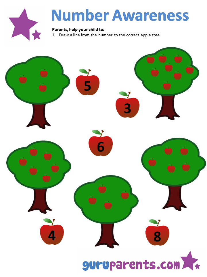 Number Awareness Worksheet