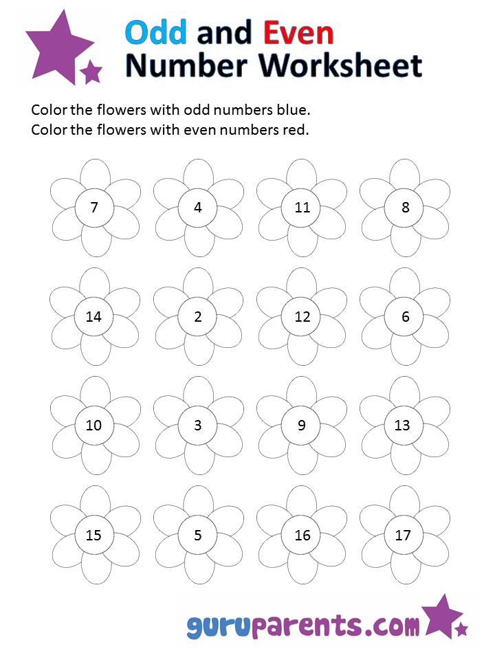 Worksheet. Odd and Even Number Worksheets  guruparents
